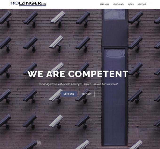 Screenshot of Holzinger Managementberatung's website